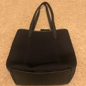 Coach Bags - Coach Black Neoprene and Leather Tote Bag Purse